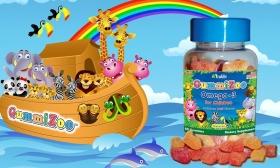 4.990 Ft helyett 2.290 Ft: 1 doboz 30 db-os GummiZoo Omega étrendkiegészítő gyermekeknek