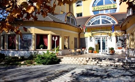 4 nap, 3 éj két főnek, félpanziós ellátással és akár 2 db harkányi gyógyfürdő belépővel a Hotel Arborétum Harkányban 55-60% kedvezménnyel