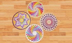 8.500 Ft helyett 3.990 Ft: 3 órás selyem mandala festés a NapFényHáz Kulturális Kreatív Műhelyben