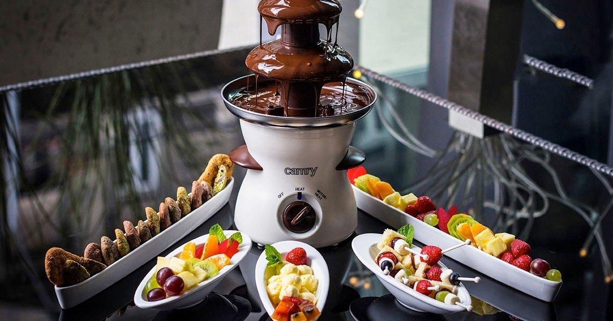 Csokiszökőkút finomságokkal