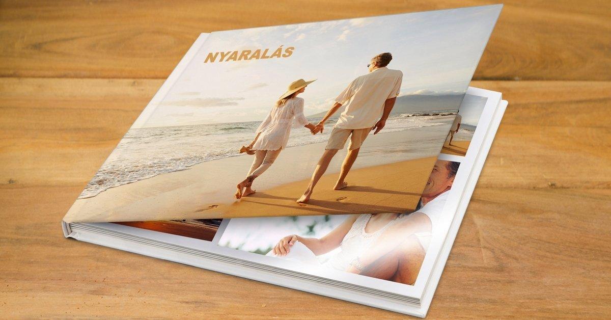 30 oldalas minőségi fotókönyv, valódi fényes fotópapírra