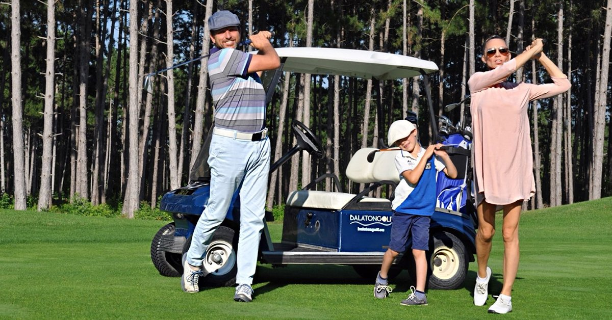 Golfozás golfautóval, oktatással Balatonudvariban