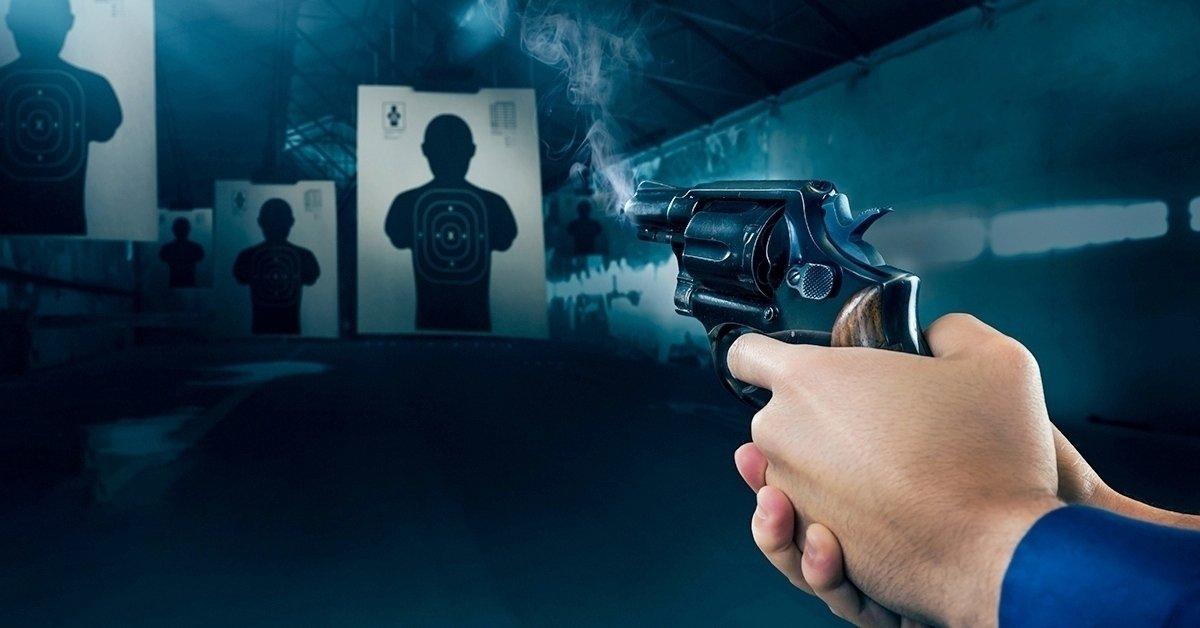 Pisztoly és puska lövészet 5 fegyverrel, 74 lövéssel