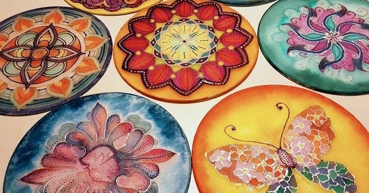 Koncentrációs relaxáció: 3 órás selyem mandala festés