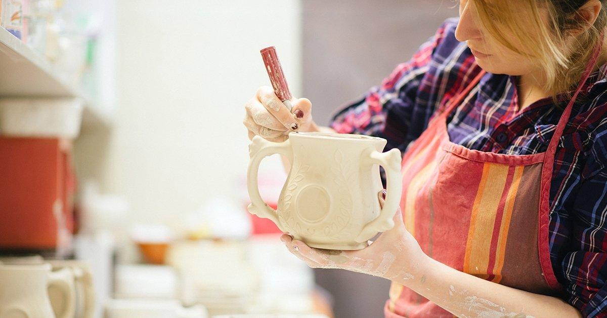 Romantikus kerámia alkotás pároknak ajándék teával