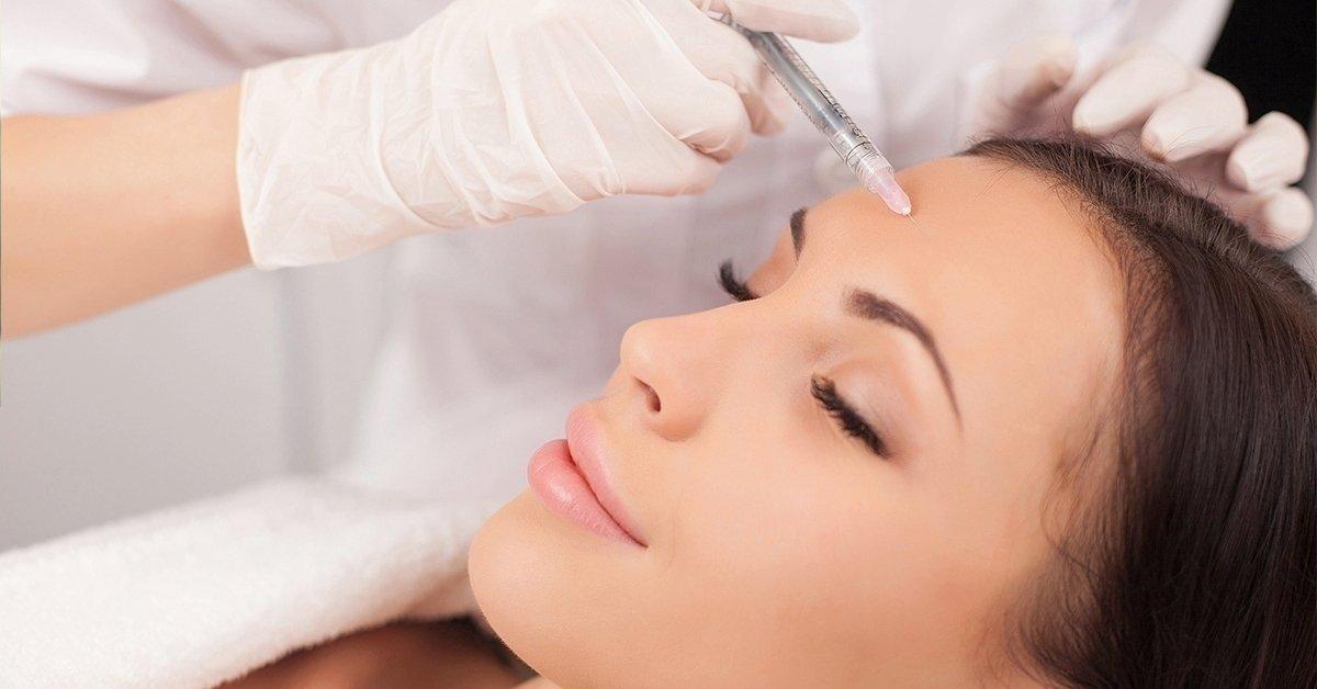 Botox injekciós kezelés a homlok és orrgyök ráncai ellen