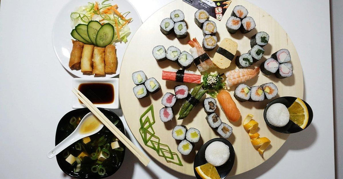 Különleges sushi lakoma: Nagy Bónusz Bőségtál 2 fő részére