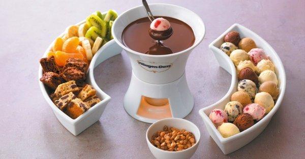 Häagen-Dazs jégkrém fondü 2 főre forró belga csokival