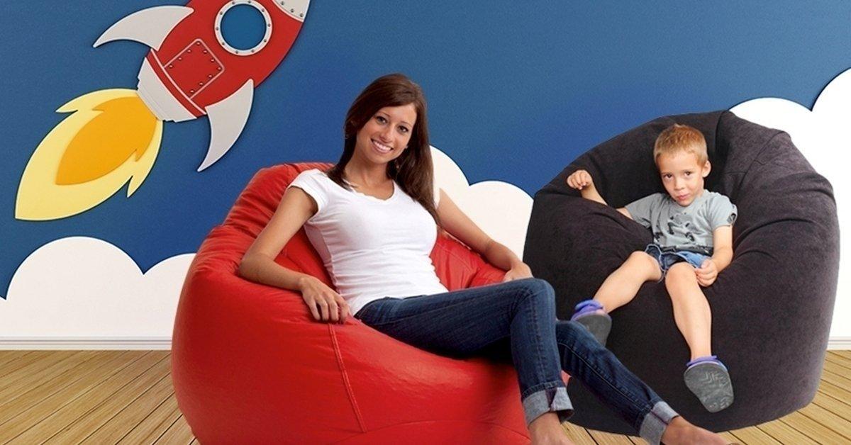 Huppanj rá: csepp alakú babzsák fotel több színben