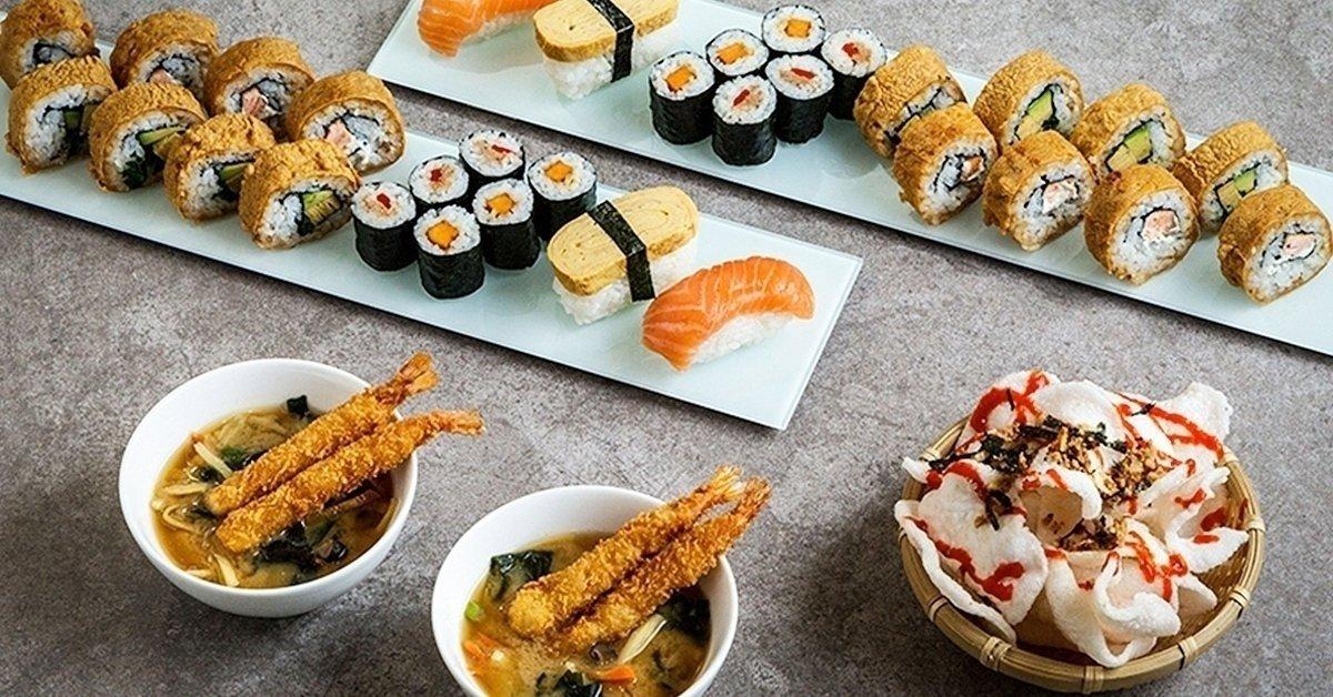 Ázsia ízei: páros sushi menü Miso levessel és 2 koktéllal