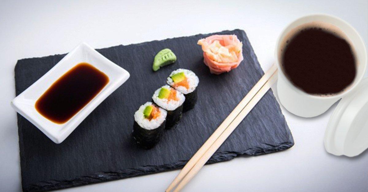 Japán menü hideg napokra: zöld tea és lazac-avokádó maki