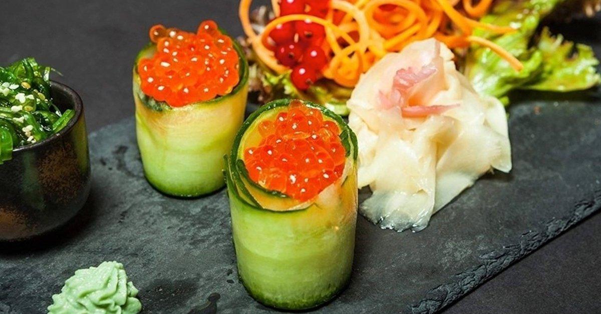 Kétszemélyes ínycsiklandozó sushi szett, a Gozsdu udvarban