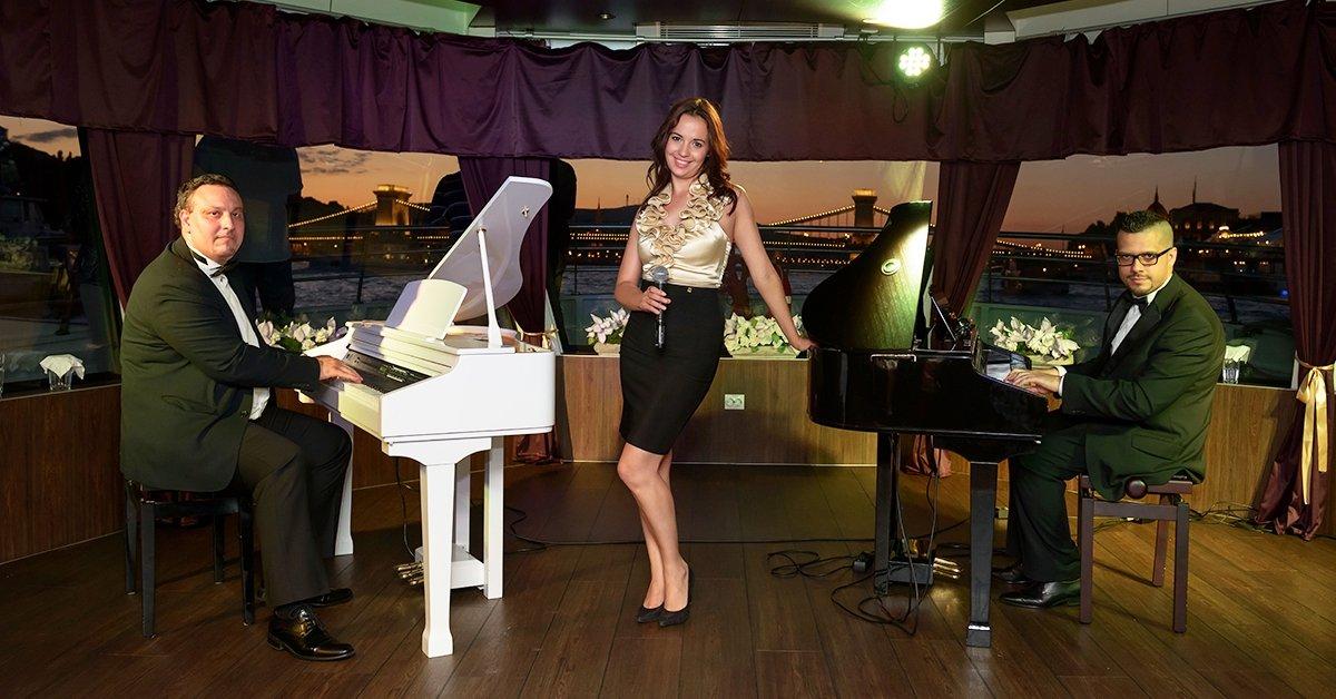 Zenés vacsora a Dunán: 4 fogásos hajós vacsora zongoraesttel