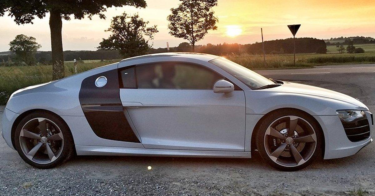 Audi R8 száguldás