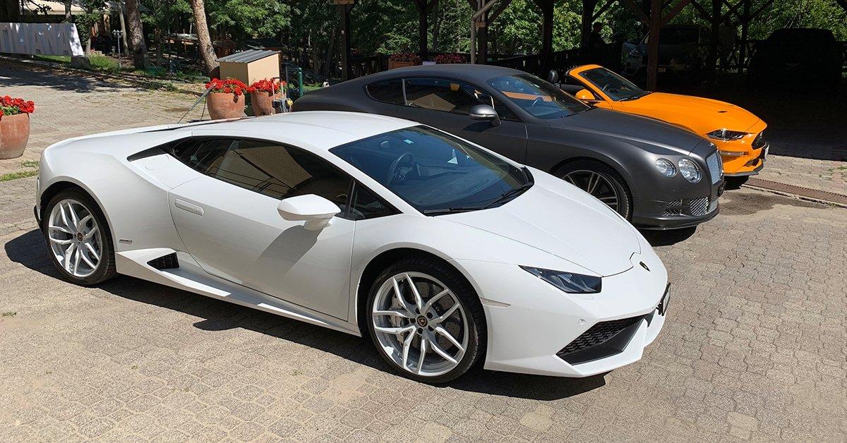 Lamborghini Huracán vezetés