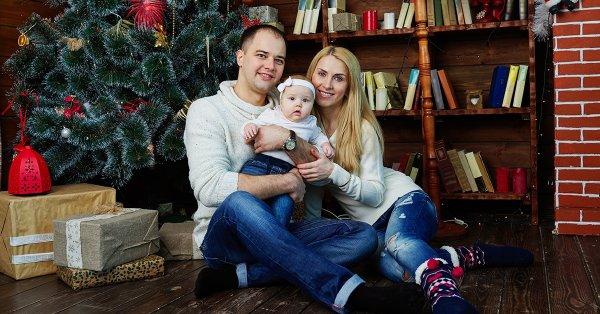 Ünnepi pillanatok: karácsonyi témájú páros fotózás
