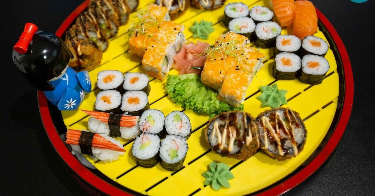 42 db-os Arigatou Sushi szett