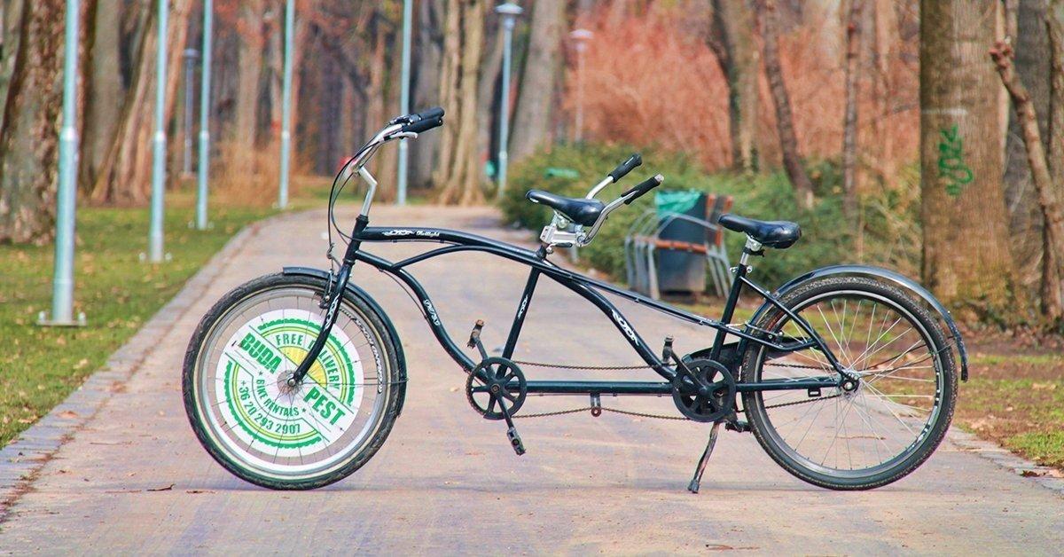 Tandem biciklizés és 2 lángos