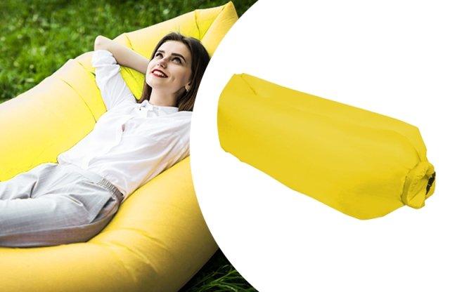 Levegővel tölthető relax ágy, citromsárga + más színekben