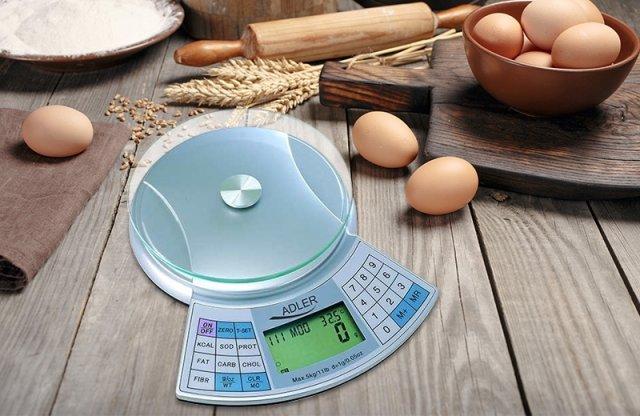 Adler diétás mérleg, 5 kg méréshatár, szürke