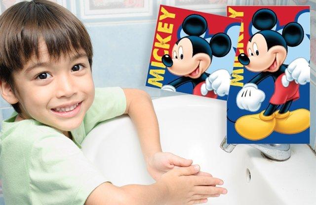 Kéztörlő-arctörlő, Mickey Mouse + más típus