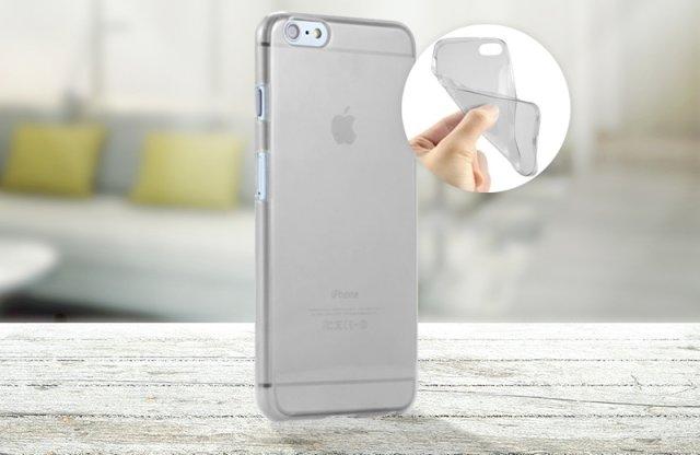 iPhone 6/6S szilikon védőtok, 0,33mm, átlátszó