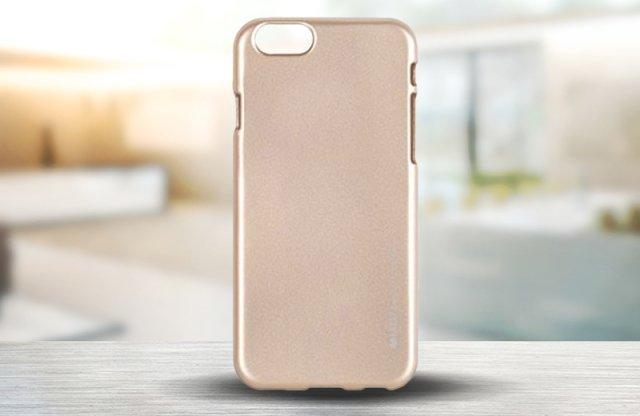 iPhone 7 szilikon védőtok, I Jelly arany