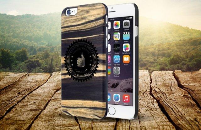 Illatosított iPhone 6/6S fa védőtok, white ebony, thumb, Man and wood