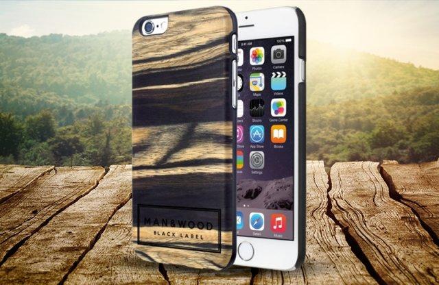 Illatosított iPhone 6/6S Fa védőtok, MAN AND WOOD, label