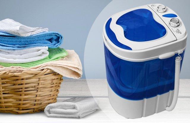 ADLER mini mosógép, 580 W, kék