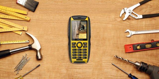 ConCorde Raptor P 68 ütésálló mobiltelefon, Black/yellow + több típusban