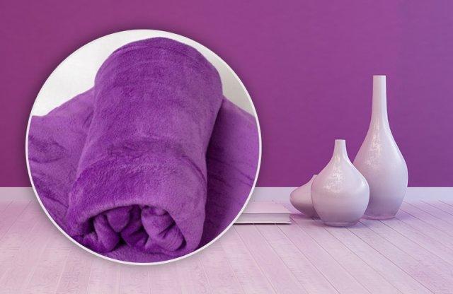 Smartex Corall Fleece, polár takaró, 150x200 cm, lila + több színben