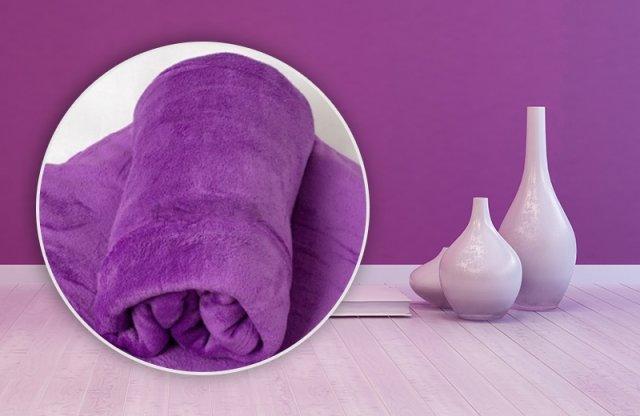 Smartex Corall Fleece, Polár takaró, 200x230 cm, lila + több színben
