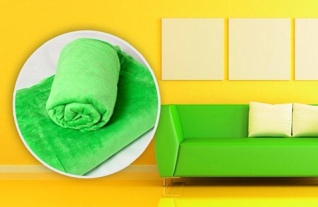 Smartex Corall Fleece, Polár takaró, 200x230 cm, zöld + több színben