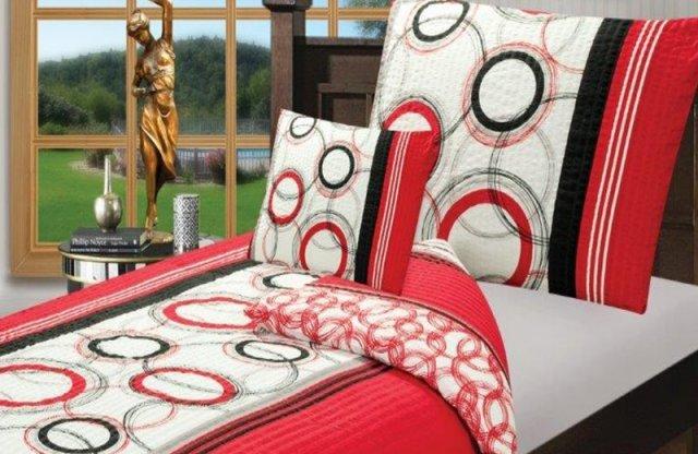 Smartex Prémium Pamut 6 részes ágyneműhuzat garnitúra, piros-sávos