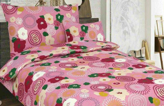 Smartex Pamut 6 részes ágyneműhuzat garnitúra, rózsaszín-virágos + más mintával