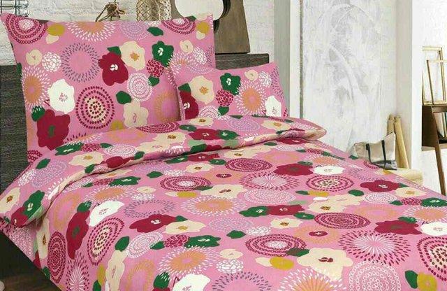 Smartex Pamut 7 részes ágyneműhuzat garnitúra, rózsaszín-virágos