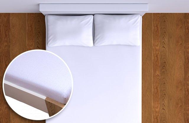 Smartex Pamut Jersey gumis lepedő 160x200 cm, fehér + több színben