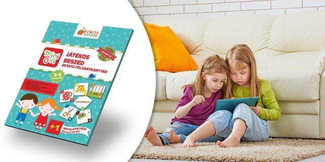Mini Ovi Játékos oktató feladatkártya, beszéd + több típusban