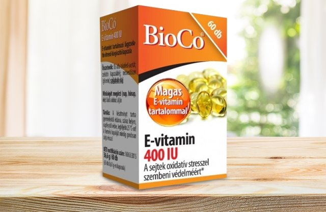 BioCo E-vitamin 400 IU, 60 db lágyzselatin kapszula
