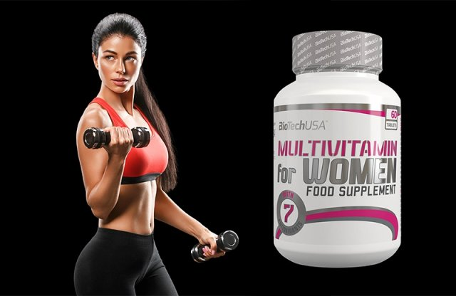 BioTechUSA, multivitamin nőknek, 60 db tabletta