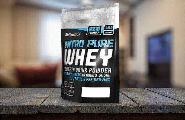 BioTechUSA, Nitro Pure Whey, tejsavófehérje, 454 g, több ízben