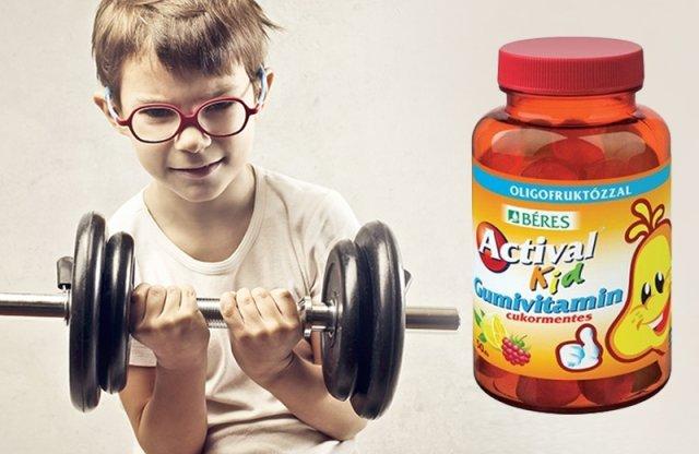 Béres Actival Kid Gumivitamin, 30 db, cukormentes