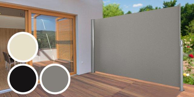 Kihúzható árnyékoló fal, szürke, + több színben