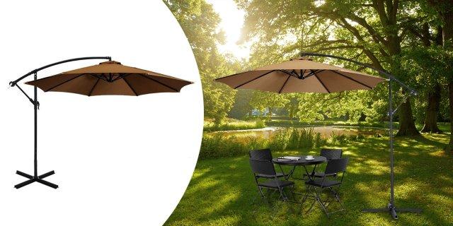 Függő napernyő, 2,7 m-es, keki + több színben