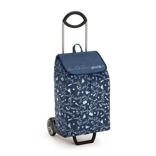 Bevásárlókocsi, kék, 50 L, max. 30 kg