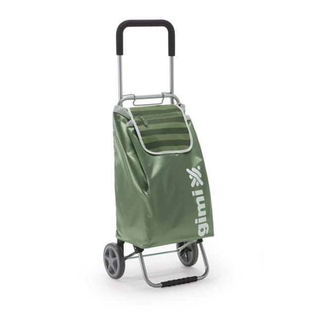 Bevásárlókocsi, zöld, 45 L, max. 30 kg