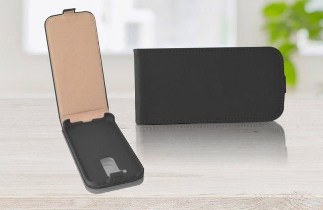 Surazo Samsung Galaxy S5 Mini bőr fliptok, fekete + más színekben