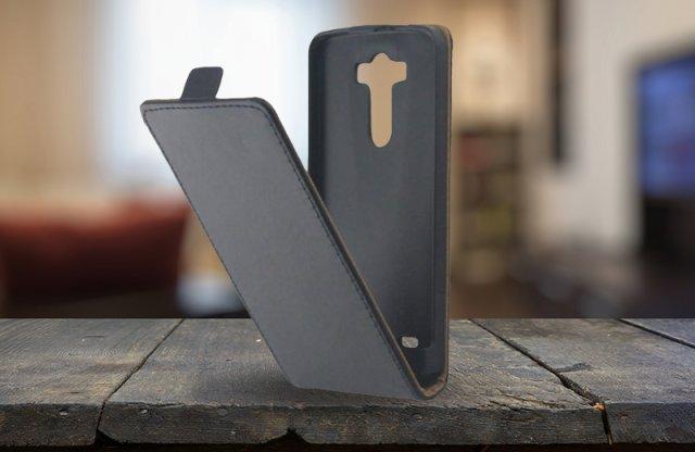 Surazo LG G3 bőr fliptok, fekete