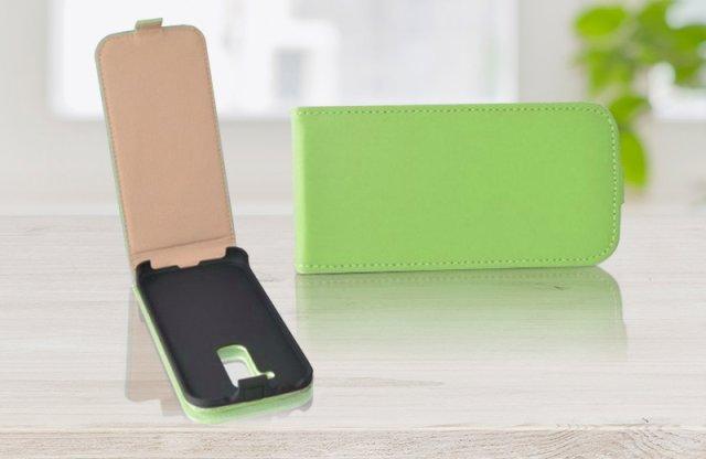 Surazo LG G2 Mini bőr fliptok, lime + más színben